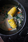 Vegan sancocho, a twist on a traditional Latin American dish