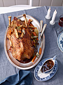 Martin goose with carrots and quinces