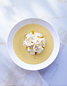 Cream of vegetable soup with cream cheese