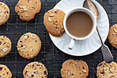 Hazelnut biscuits and coffee