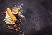 Ingredients for eclairs