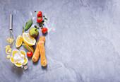 Zutaten für fruchtige Eclairs
