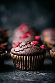 Schokoladen-Himbeer-Muffins
