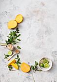Lime, Mango, Mint, Sugar