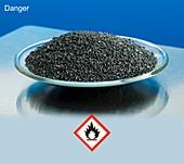 Magnesium metal with hazard pictograms