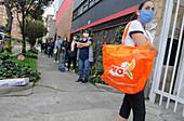 Supermarket queue during Covid-19 outbreak