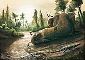 Kryptops dinosaur carcass, illustration