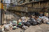 Rubbish in street during Covid-19 outbreak in Venezuela