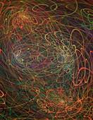 Quantum entanglement concept.
