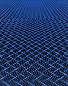Rippled mesh concept illustration.