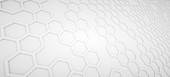 Hexagonal concept background