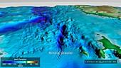 Seabed topography beneath Ninnis Glacier, Antarctica