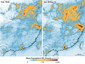 Chinese nitrogen dioxide levels rebound after Covid-19