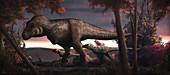 Tyrannosaurus rex dinosaurs, illustration
