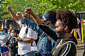 Rally against police brutality, Detroit, USA