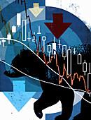 Bear market, illustration