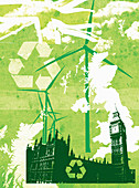 UK government environmental policy, illustration