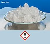 Sodium carbonate with hazard pictograms