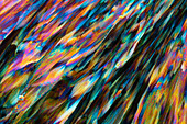 Ferrous and ammonium sulphate, polarised light micrograph