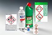 Household chemicals & hazard pictograms