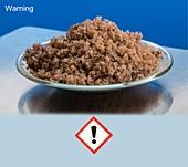 Sodium chloride rock salt & pictogram