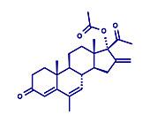Melengestrol acetate cattle growth promoter, illustration