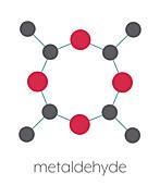 Metaldehyde pesticide molecule, illustration