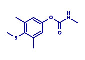 Methiocarb pesticide molecule, illustration