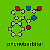 Phenobarbital barbiturate anticonvulsant molecule