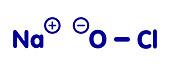 Sodium hypochlorite molecule, illustration