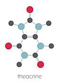 Theacrine molecule, illustration