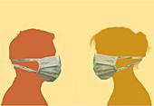 Face masks, illustration