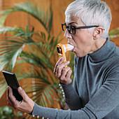 Portable digital spirometer