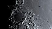 Shadows on the Moon's terminator