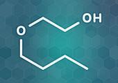 2-butoxyethanol solvent molecule, illustration
