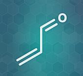 Acrolein molecule, illustration