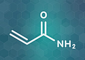 Acrylamide molecule, illustration