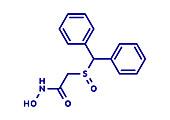Adrafinil drug molecule, illustration