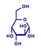 Altrose sugar molecule, illustration