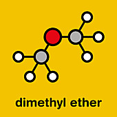 Dimethyl ether molecule, illustration