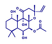 Forskolin molecule, illustration