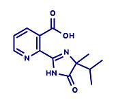 Imazapyr herbicide molecule, illustration