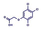 2, 4, 5-trichlorophenoxyacetic acid herbicide, illustration