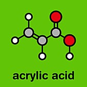 Acrylic acid molecule, illustration