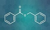 Benzyl benzoate drug molecule, illustration