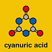 Cyanuric acid molecule, illustration
