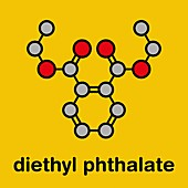 Diethyl phthalate plasticizer molecule, illustration