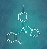 Epoxiconazole pesticide molecule, illustration