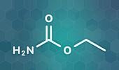 Ethyl carbamate carcinogenic molecule, illustration