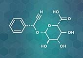 Laetrile molecule, illustration